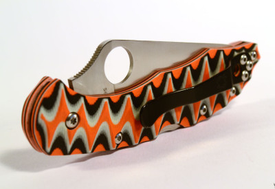 "Spyderco Delica custom scales ""bengal"""