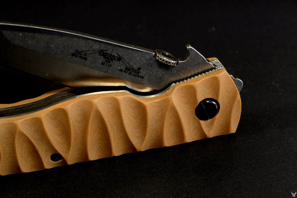 Emerson CQC-7 double V grind