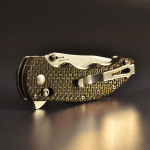 "Benchmade 300SN Axis flipper custom scales ""thunder"""